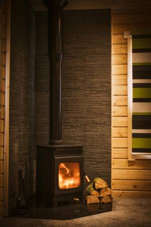 A woodburner for the cooler nights