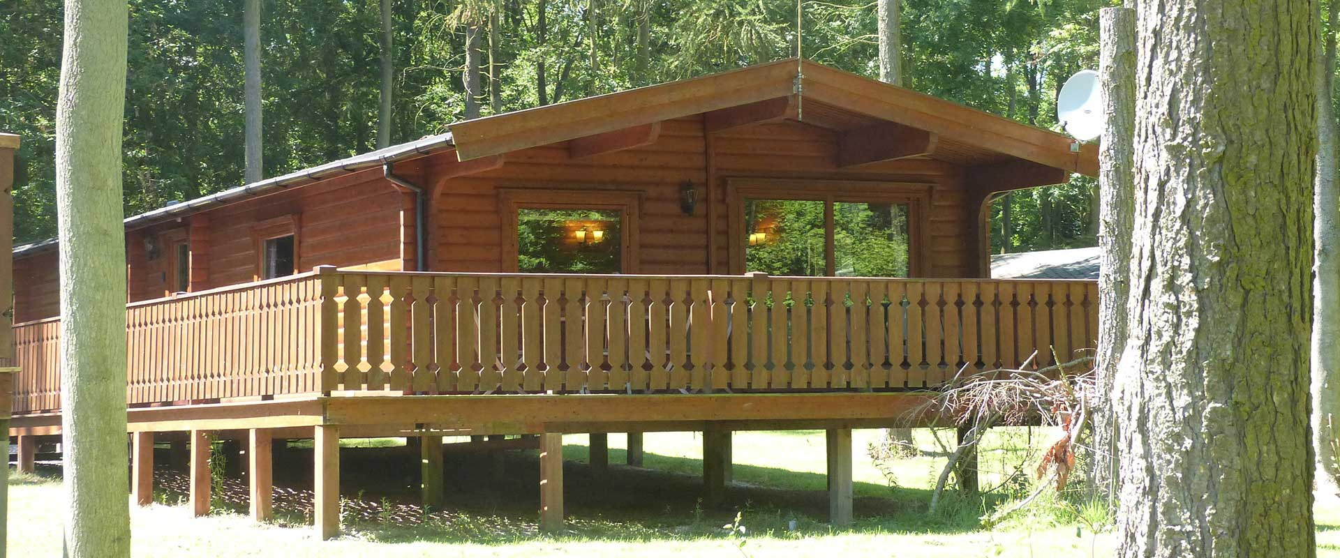 A range of 2 & 3 bed cabins are available